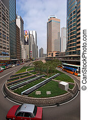 Urbanistic landscape. - The small area and skyscrapers in...