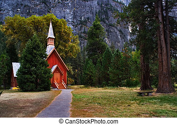 Small church - It is church in Yosemite park