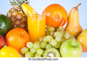 mixed fruit - Composition of mixed fruit and orange juice...