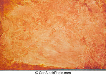 Orange Painterly Background