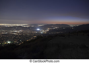 Los Angeles Dusk - Los Angeles at night Shot from the top of...