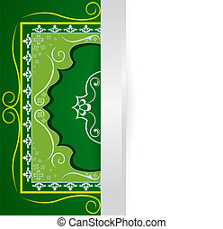 green border with a free place