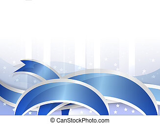 background with blue ribbon - background with festive blue...