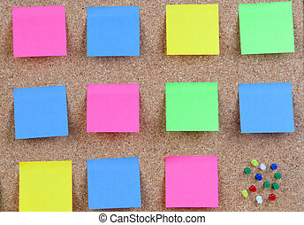 Many colour post-it