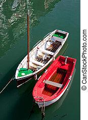 Boats in Ondarroa, Bizkaia, Spain