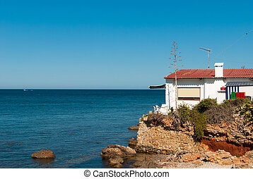 Mediterranean architecture - Traditional whitewashed house...