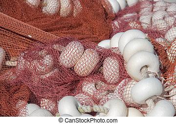 Fishing nets, Ondarroa, Bizkaia, Spain