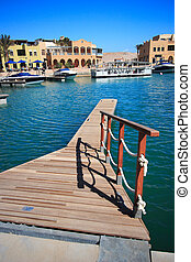 Luxury yachts at El Gouna, Egypt, on the Red Sea