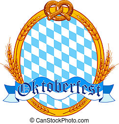 Oktoberfest oval label design with place for text