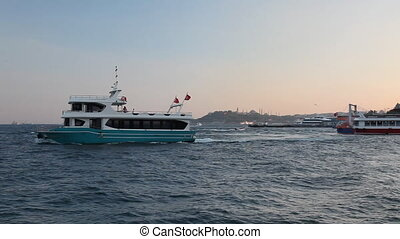steamboat in the bosphorus, shoot Canon 5D Mark II