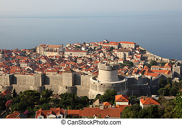 View of the medieval town Dubrovnik in Croatia