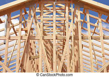 Abstract of Home Framing Construction Site