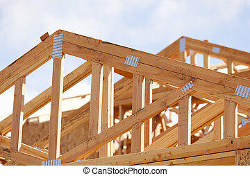 Abstract of Home Framing Construction Site - Abstract of...