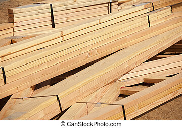 Abstract of Construction Wood Stack - Abstract of...