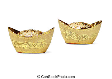 Chinese new year gold ingot ornaments - Chinese new year...