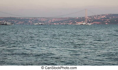 sea traffic - Bosphorus and sea traffic