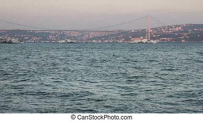 sea traffic - Bosphorus and sea traffic