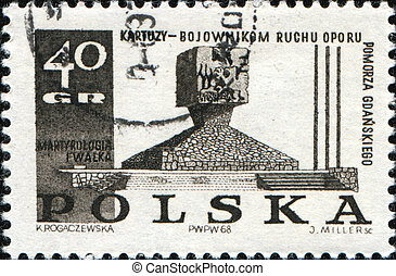 POLAND - CIRCA 1969: A Stamp printed in Poland honoring...