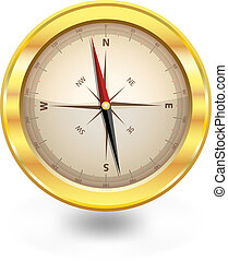 isolated compass vector