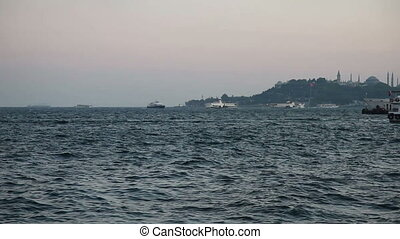 sea traffic 2 - Bosphorus and sea traffic