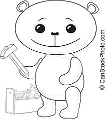 Teddy bear worker, contours