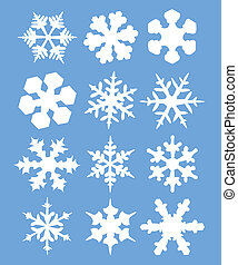 Snowflakes illustration - vector