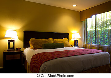 Classic hotel room - Interior of a modern luxury hotel room