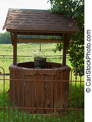 Wishing well on the farm - Antique wishing well on the farm...