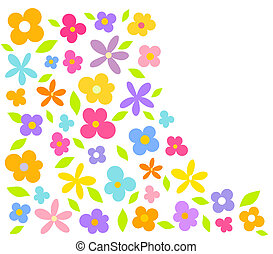 Flowers background - Colorful flower card - vector...