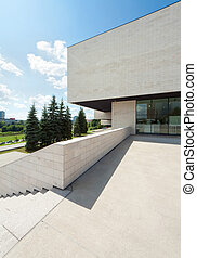 Exterior fragment - Modern building exterior fragment with...