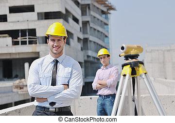 建設, 站點, 建筑師, 隊