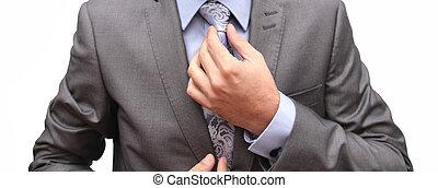 get prepared - closeup of a man getting prepared for...