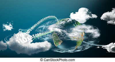 Fast and safe cloud computing on our planet illustrated with...