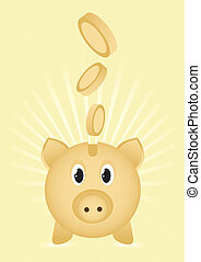 Moneybox - Piggy bank icon