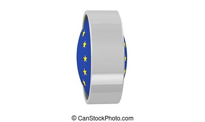 European Union flag with circular frame. Part of a series.