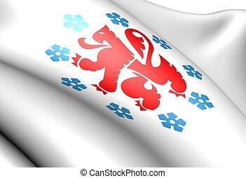 German-speaking Community of Belgium flag. Close up.