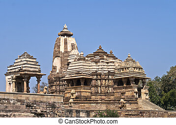 One of the Hindu temples, built by Chandela Rajputs - Brown...