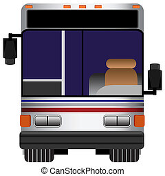 Front View Bus - An image of the front view of a bus.