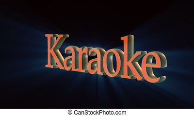 artistic karaoke  - karaoke word rotating in 3d