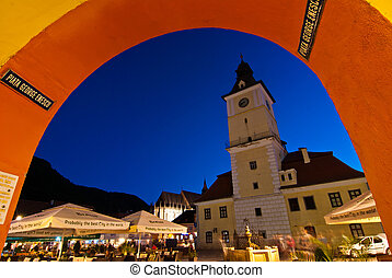 Brasov Council Square at twilight - Council square is the...