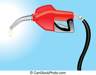petrol pump with petrol drop vector illustration