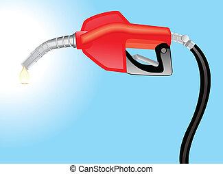 petrol pump with petrol drop vector illustration