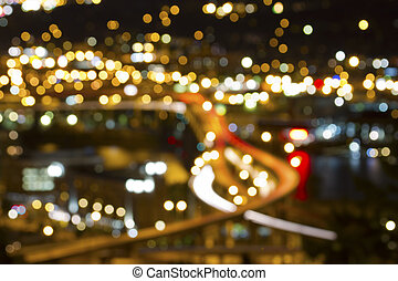 Portland Oregon Out of Focus City Lights - Portland Oregon...