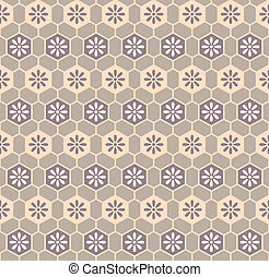Retro cloth pattern - Floral cells retro kimono pattern