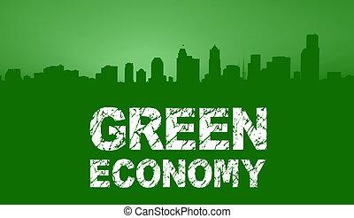 Green Economy City Skyline