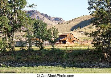Barn on Farmland Along John Day River