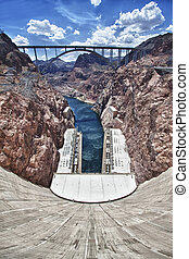 Hoover dam - View of the Hoover Dam in Nevada, USA