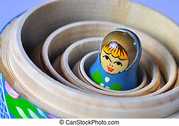 Matrioska Russian Doll - The smallest of the Matrioska...
