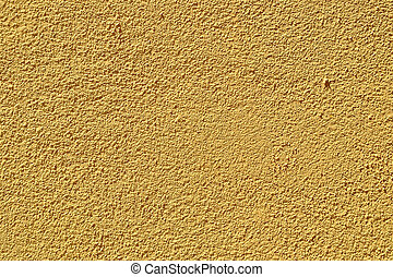 Plaster Wall - A yellow plaster wall texture / background.