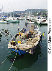 Lerici, the harbor - Lerici La Spezia, Liguria, Italy, the...